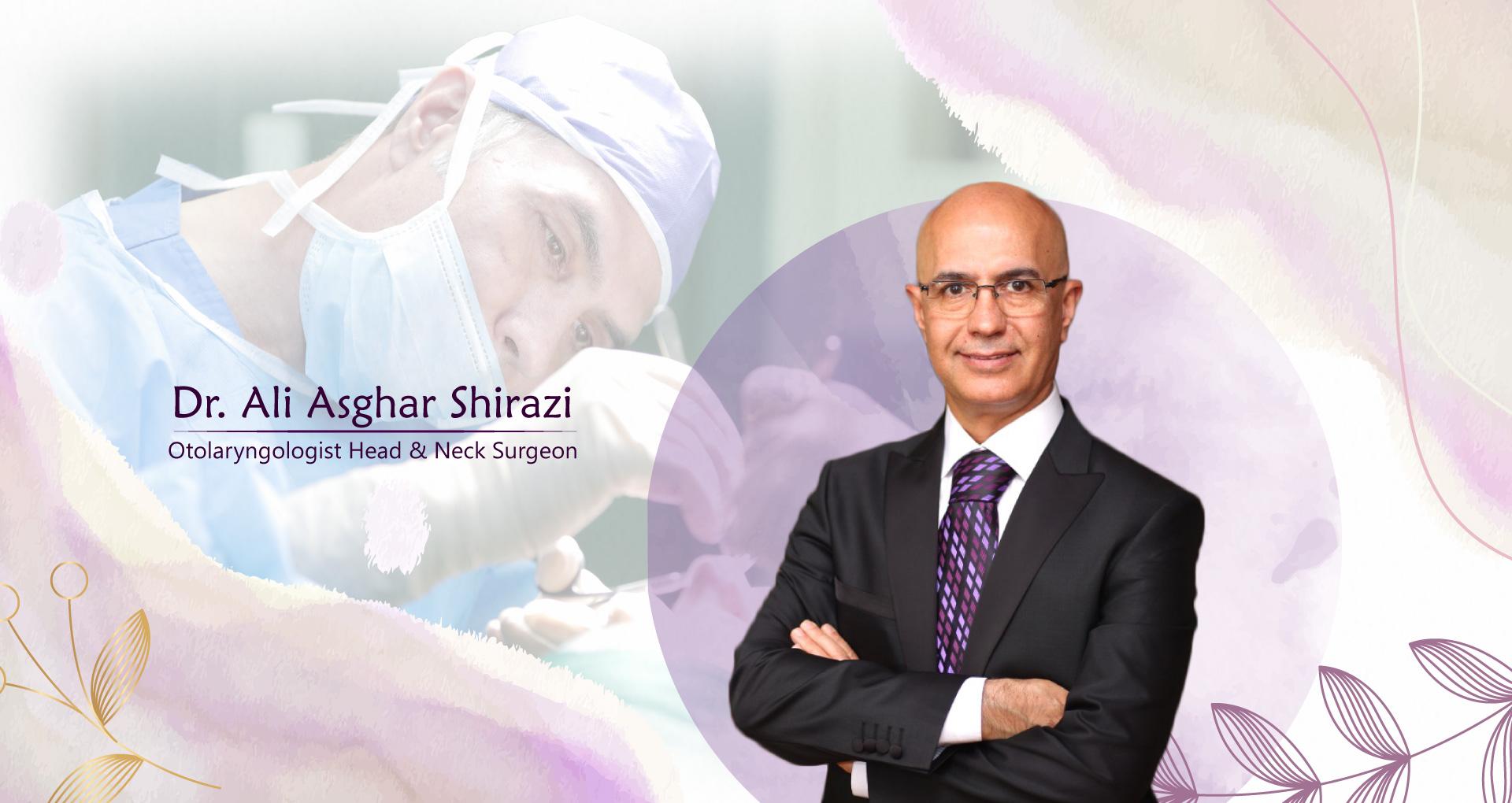 بنری با عکس دکتر شیرازی